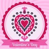 De valentijnskaartendag van de hartliefde  Royalty-vrije Stock Fotografie