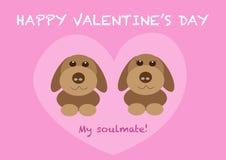 De valentijnskaartendag van paarhonden Stock Foto's