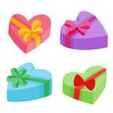 De valentijnskaartendagen stelt inzameling voor Vectorillustratie van beeldverhaalgiften Stock Foto