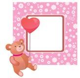 De valentijnskaartframe van de teddybeer Royalty-vrije Stock Afbeeldingen