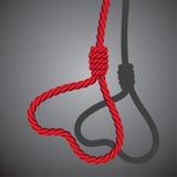 De valentijnskaarthart van de liefde dat van lus van kabel wordt gevormd royalty-vrije illustratie