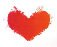 De valentijnskaarthart van de zijde Royalty-vrije Stock Afbeelding