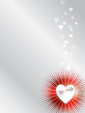 De valentijnskaartkaart van Halftoned Royalty-vrije Stock Afbeelding