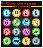 De Valentim do dia ícones simplesmente Imagem de Stock Royalty Free