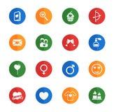 De valentines de jour icônes simplement Images stock