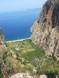 De vallei diepe kloof fethiye Turkije van de vlinder Royalty-vrije Stock Fotografie