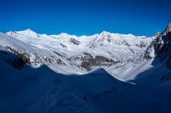 De vallei in Ernstig La Meije van La Royalty-vrije Stock Afbeelding