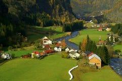 De Vallei Noorwegen van Flam stock afbeelding