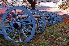 De vallei smeedt Kanonnen bij Zonsopgang Royalty-vrije Stock Afbeeldingen