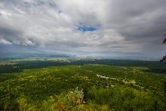 De vallei tussen de drie bergen royalty-vrije stock foto's