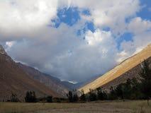 De Vallei of Valle del Elqui van Elqui royalty-vrije stock foto's