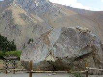 De Vallei of Valle del Elqui van Elqui Stock Foto's