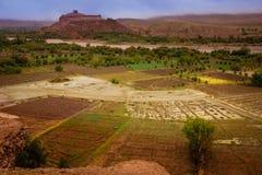 De vallei van Asifounila Kasbahait ben haddou marokko Royalty-vrije Stock Foto's