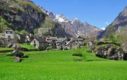 De Vallei van Bavona, Locarno, Ticino, Zwitserland Royalty-vrije Stock Fotografie