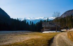 De vallei van de berg royalty-vrije stock foto's
