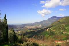 De vallei van Camaiore Royalty-vrije Stock Foto