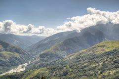 De vallei van Coroico Stock Afbeelding