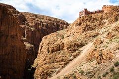 De vallei van Dadeskloven, Marokko, Afrika Royalty-vrije Stock Afbeeldingen