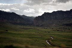 De vallei van de berg Royalty-vrije Stock Foto