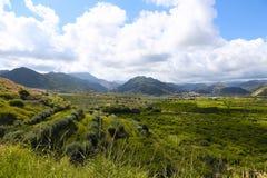 De vallei van de berg Stock Foto