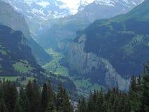 De vallei van de berg Stock Fotografie