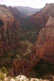 De vallei van de Canion van Zion stock afbeelding