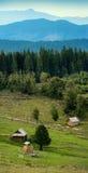 De vallei van de Carpatianberg Stock Foto's
