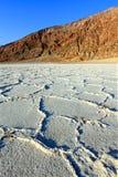 De Vallei van de Dood van het Bassin van Badwater Royalty-vrije Stock Foto's