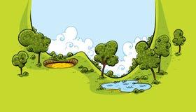 De Vallei van de golfcursus royalty-vrije illustratie