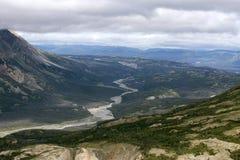 De Vallei van de Kaskawulshrivier in het Nationale Park van Kluane, Yukon 02 Royalty-vrije Stock Foto's