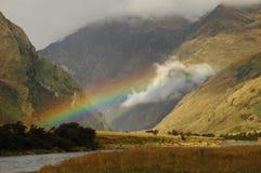 De vallei van de regenboog stock foto