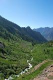 De Vallei van de rivier Stock Foto's
