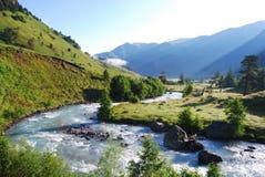 De vallei van de rivier Stock Fotografie