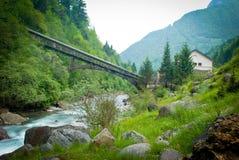 De vallei van de rivier Stock Afbeelding