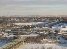 De Vallei van de Rivier van Edmonton Stock Foto