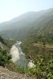 De Vallei van de Rivier van Yamuna Stock Afbeelding