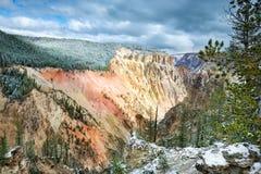 De Vallei van de Rivier van Yellowstone Royalty-vrije Stock Fotografie