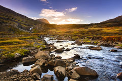 De vallei van de Seydisfjordurfjord Royalty-vrije Stock Afbeeldingen