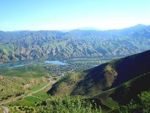 De vallei van de Vakhsh-rivier Royalty-vrije Stock Foto