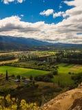 De vallei van Gr Bolson in Argentijns Patagonië stock foto