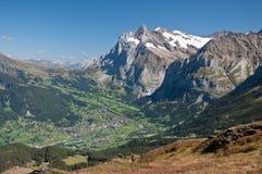 De Vallei van Grindelwald Stock Afbeeldingen