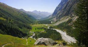 De vallei van het fret, Courmayeur Royalty-vrije Stock Foto
