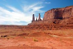 De Vallei van het monument, Arizona Stock Afbeeldingen