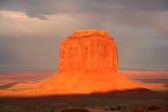 De vallei van het monument bij zonsondergang 2 Stock Foto