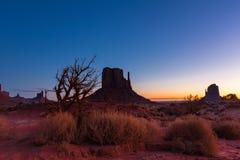 De Vallei van het monument bij zonsopgang Royalty-vrije Stock Fotografie