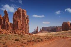 De Vallei van het monument in het Zuidwesten van Amerika stock afbeelding