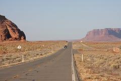 De vallei van het monument omhoog vooruit Stock Foto