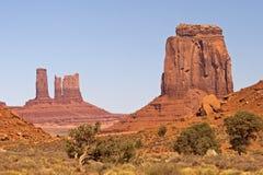 De Vallei van het monument (Utah) Stock Foto's
