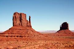 De Vallei van het monument, Utah Stock Foto's