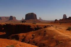 De Vallei van het monument, Utah, de V.S. Stock Foto's